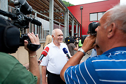 Lojz Katnik, grandfather of Anze Kopitar, at Slovenian ice-hockey player NHL Champion Anze Kopitar welcome ceremony when he arrived home after winning Stanley Cup at the end of season 2011/2012, on June 20, 2012, at Hrusica, Jesenice, Slovenia. (Photo By Matic Klansek Velej / Sportida)