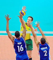 07.09.2014, Spodek, Katowice, POL, FIVB WM, Brasilien vs Kuba, Gruppe B, im Bild MURILLO ENDRES // during the FIVB Volleyball Men's World Championships Pool B Match beween Brazil vs Cuba at the Spodek in Katowice, Poland on 2014/09/07. <br /> <br /> ***NETHERLANDS ONLY***