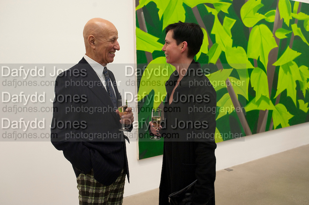 ALEX KATZ; CARO JOST, Alex Katz opening. Timothy Taylor gallery. London. 3 March 2010.