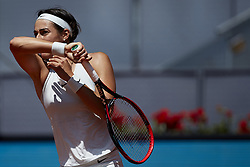 May 10, 2018 - Madrid, Madrid, Spain - Caroline Garcia of France in action in her match against Carla Suarez Navarro of Spain during day six of the Mutua Madrid Open tennis tournament at the Caja Magica on May 10, 2018 in Madrid, Spain  (Credit Image: © David Aliaga/NurPhoto via ZUMA Press)