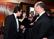 Co-head of production of FOX David Greenbaum, from left, Sally Hawkins, and Co-head of production of FOX Matthew Greenfield attend FOX 2018 Golden Globes After Party at The Beverly Hilton on Sunday, January 7, 2018, in Beverly Hills, Calif. (Photo by Jordan Strauss/JanuaryImages/Invision/AP)