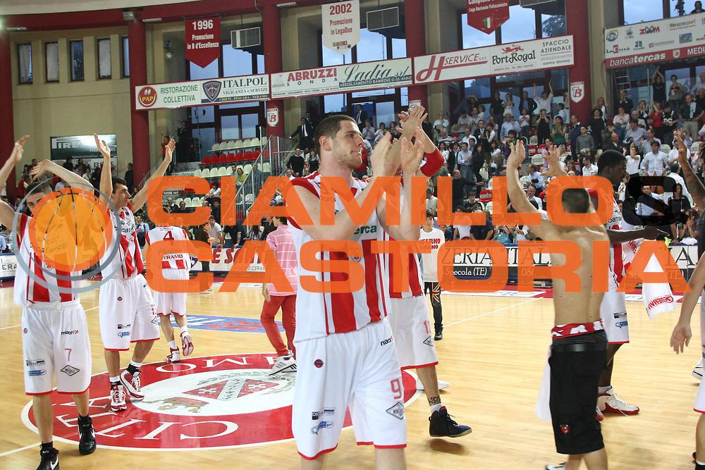 DESCRIZIONE : Teramo Lega A 2008-09 Bancatercas Teramo GMAC Fortitudo Bologna <br /> GIOCATORE : Valerio Amoroso Team<br /> SQUADRA : Bancatercas Teramo <br /> EVENTO : Campionato Lega A 2008-2009<br /> GARA : Bancatercas Teramo GMAC Fortitudo Bologna<br /> DATA : 10/05/2009<br /> CATEGORIA : Esultanza<br /> SPORT : Pallacanestro<br /> AUTORE : Agenzia Ciamillo-Castoria/C.De Massis