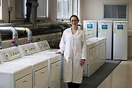 Word: PROCESS<br /> <br /> Caption: Unilever apprentice Hannah Dufton-Kelly pictured during a laundry appraisal test.<br /> <br /> The image is taken from a project entitled 'The Proof Principle' by photographer Colin McPherson, which was commissioned in 2011 by Unilever to celebrate 100 years of work at the company's research and development facility at Port Sunlight, Wirral.<br /> <br /> All images © Colin McPherson, all rights reserved.