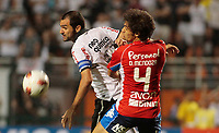 20120307: SAO PAULO, BRAZIL - Player Danilo and Raul during Corinthians (Brasil) vs Nacional (Paraguai) for Copa Libertadores held at Pacaembu stadium in SP<br />