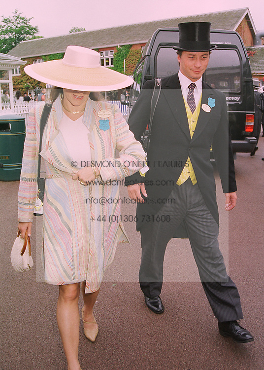 PRINCESS ZAHRA BOYDEN daughter of the Aga Khan and her husband MR MARK BOYDEN, at Royal Ascot on 18th June 1998.MIN 60