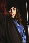 PROVIDENCE, RI - FEB 13: Sheila Sanchez backstage at the Alistair Archer show during StyleWeek NorthEast on February 13, 2015 in Providence, Rhode Island. (Photo by Cat Laine)