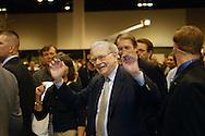 5/1/04 Omaha, Neb. Warren Buffet at the Berkshire Hathaway shareholders meeting at Qwest Center Omaha Saturday morning. (chris machian)