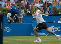 Tennis - 2017 Aegon Championships [Queen's Club Championship] - Day Four, Thursday <br /> <br /> Men's Singles: Round of 16 - Jordan THOMPSON (AUS) vs Sam QUERREY (USA)<br /> <br /> Jordan Thompson (AUS) approaches the net to block his opponents pass at Queens Club<br /> <br /> COLORSPORT/DANIEL BEARHAM