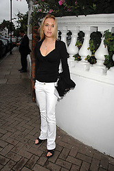 IMOGEN LLOYD WEBBER at the annual Sir David & Lady Carina Frost Summer Party in Carlyle Square, London SW3 on 5th July 2007.<br />