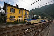 Centovalli Railway. Famous Ristorante della Stazione at Intragna.