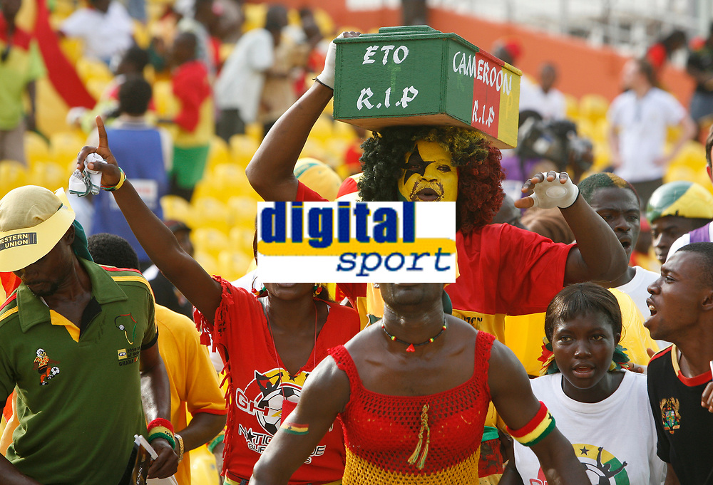 Photo: Steve Bond/Richard Lane Photography.<br />Ghana v Cameroon. Africa Cup of Nations. 07/02/2008. Not wishing Cameroon well