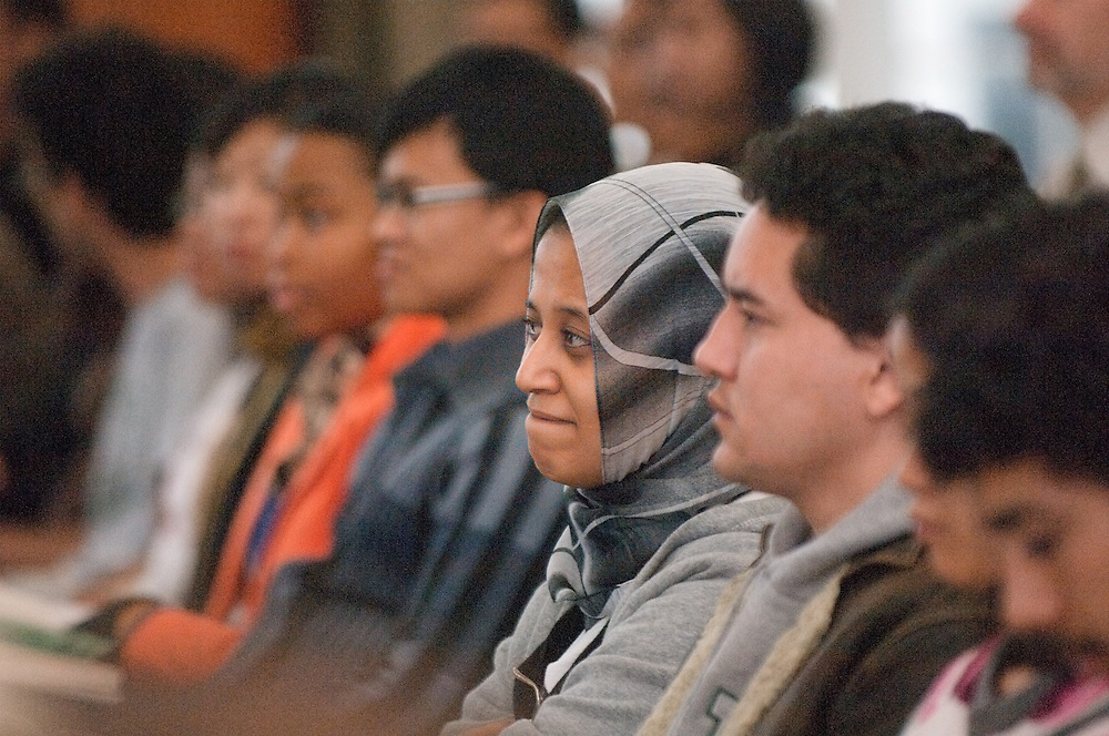 18496Sponsored International Students Reception: Nov 7th, 2007...Admideast Scholar Asmaa Shehata from Egypt