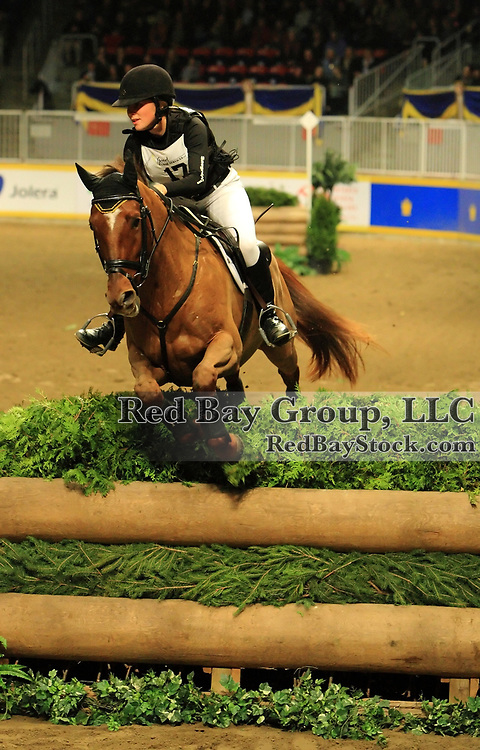 Jessica Phoenix and Exotic at the Good Crop Services Indoor Eventing during the 2009 Royal Agricultural Winter Fair, Toronto, ON