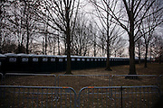 Obama Inauguration - Sunday concert on the National Mall, Washington monument and Lincoln Memorial. Portable toilets lined up near the Lincoln Memorial.