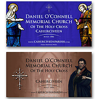 Outdoor sign design & photography for Daniel O'Connell Church, Cahersiveen, Co. Kerry