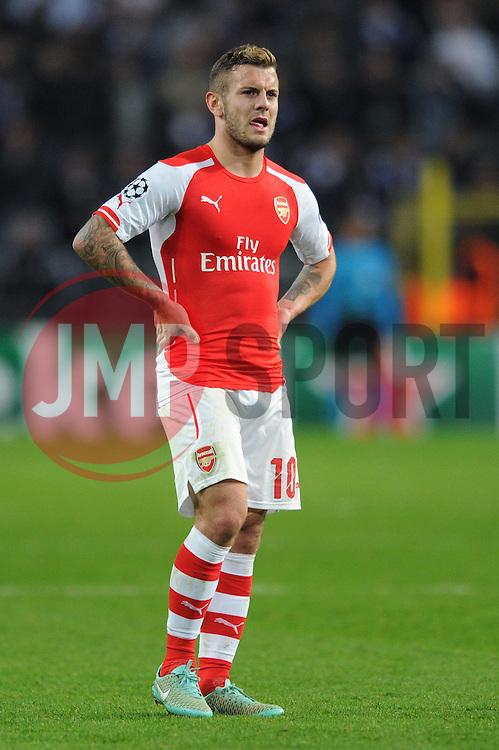 Arsenal's Jack Wilshere - Photo mandatory by-line: Dougie Allward/JMP - Mobile: 07966 386802 - 22/10/2014 - SPORT - Football - Anderlecht - Constant Vanden Stockstadion - R.S.C. Anderlecht v Arsenal - UEFA Champions League - Group D