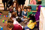 5-10-2015 BORLANGE - Arrival at Sopranen in Borl&auml;nge, a consultant unit for refugees. Information and tour by foot. Prince Carl Philip and H.K.H. the Princess Sofia will visit two days the county of Dalarna 5-6 October 2015<br /> COPYRIGHT ROBIN URECHT