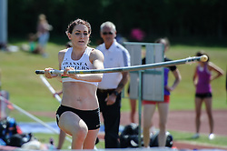 Swansea Harriers' Lucy Strickland in the Pole Vault, UK Women's Athletics League - Premier Division Match 3, Norman Park Bromley, UK on 03 August 2013. Photo: Simon Parker