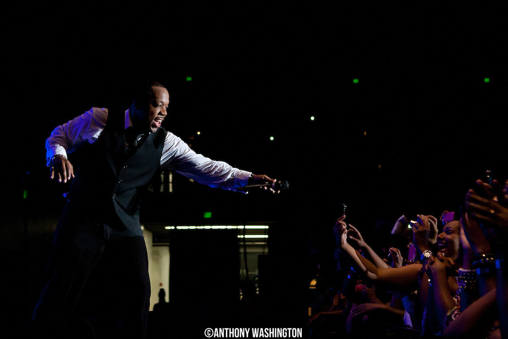 Michael Bivens of the group New Edition performs during the groups 30th Anniversary Reunion Tour at the 1st Mariner Arena in Baltimore, MD on Sunday, May 20, 2012.