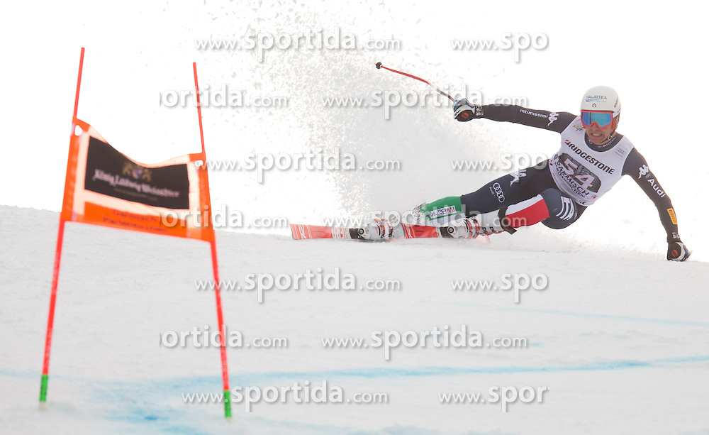 28.01.2016, Kandahar, Garmisch Partenkirchen, GER, FIS Weltcup Ski Alpin, Abfahrt, Herren, 1. Training, im Bild Matteo Marsaglia (ITA) // Matteo Marsaglia of Italy competes in his 1st training run for the men's Downhill of Garmisch FIS Ski Alpine World Cup at the Kandahar course in Garmisch Partenkirchen, Germany on 2016/01/28. EXPA Pictures © 2016, PhotoCredit: EXPA/ Johann Groder