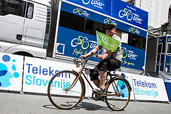 Cyclist with old bicycle during 2nd Stage of 26th Tour of Slovenia 2019 cycling race between Maribor and Celje (146,3 km), on June 20, 2019 in Slovenia.. Photo by Matic Klansek Velej / Sportida
