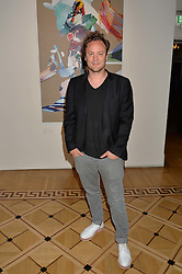"NICHOLAS KIRKWOOD at a private view of work by Matthew Stone ""Healing The Wounds' held at Somerset House, The Strand, London on 4th July 2016."