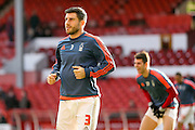 Nottingham Forest defender, on loan from Villarreal, Bojan Jokic  during the The FA Cup fourth round match between Nottingham Forest and Watford at the City Ground, Nottingham, England on 30 January 2016. Photo by Simon Davies.