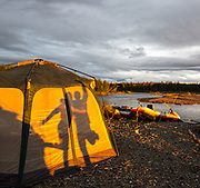 Rafters camp on the Kisaralik River, Alaska