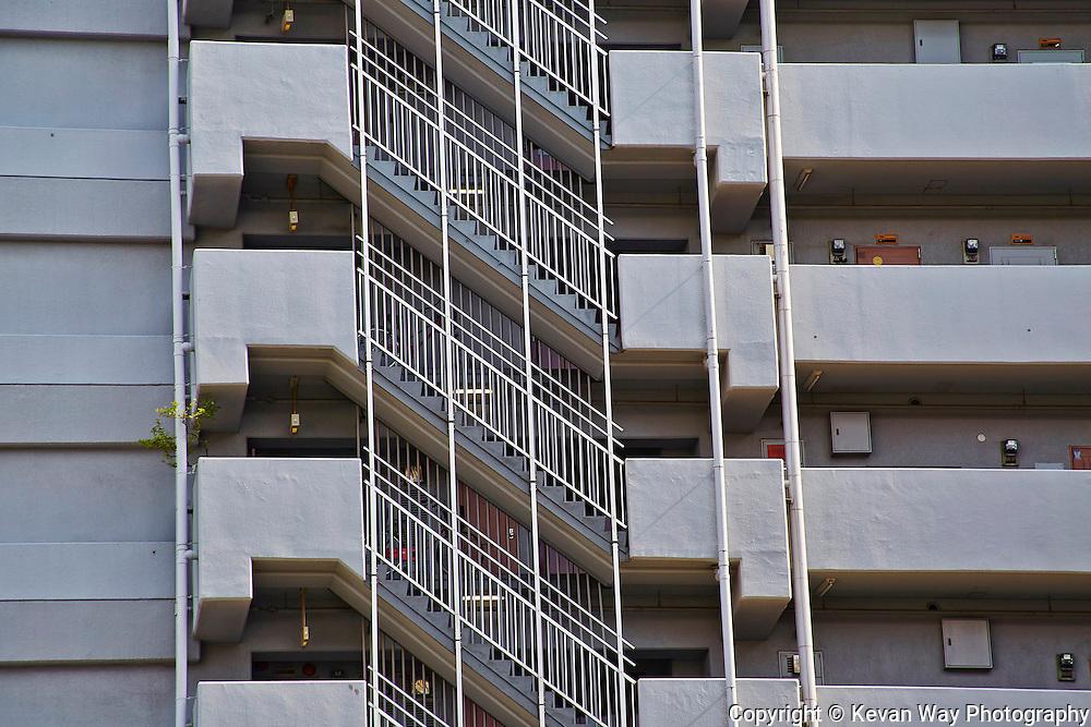 fire escape Osaka Japan