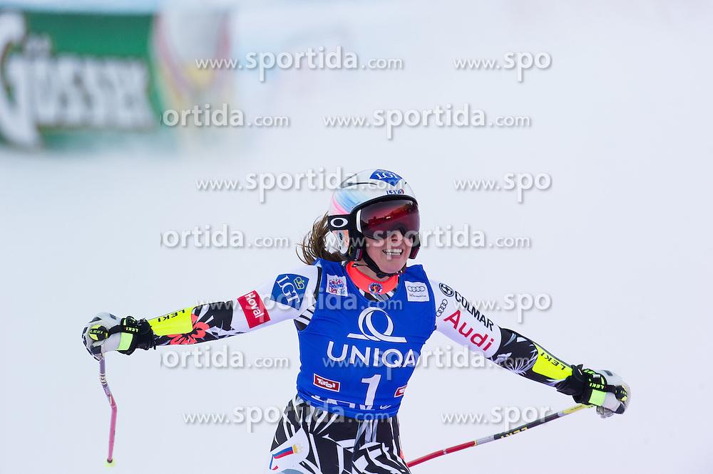 28.12.2015, Hochstein, Lienz, AUT, FIS Ski Weltcup, Lienz, Riesenslalom, Damen, 2. Durchgang, im Bild Tina Weirather (LIE, 2. Platz) // 2nd placed Tina Weirather of Liechtenstein during 2nd run of ladies Giant Slalom of the Lienz FIS Ski Alpine World Cup at the Hochstein in Lienz, Austria on 2015/12/28. EXPA Pictures © 2015, PhotoCredit: EXPA/ Michael Gruber