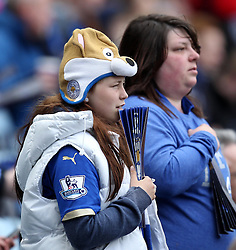Leicester City fans - Photo mandatory by-line: Robbie Stephenson/JMP - Mobile: 07966 386802 - 09/05/2015 - SPORT - Football - Leicester - King Power Stadium - Leicester City v Southampton - Barclays Premier League
