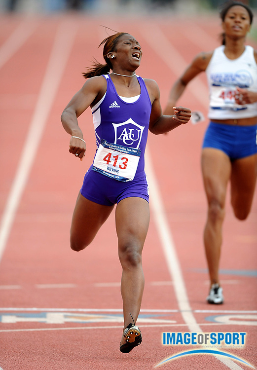 May 24, 2008; Walnut, CA, USA; Keva Wilkins of Abilene Christian won the women's 400m in 54.05 in the NCAA Division II Track & Field Championships at Mt. San Antonio College's Hilmer Lodge Stadium.