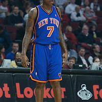 17 December 2009: New York Knicks forward Al Harrington is seen during the Chicago Bulls 98-89 victory over the New York Knicks at the United Center, in Chicago, Illinois, USA.
