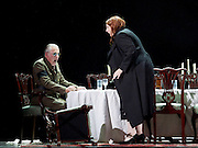 The Force of Destiny <br /> by Verdi <br /> English National Opera and the London Coliseum, London, Great Britain <br /> rehearsal<br /> 6th November 2015 <br /> <br /> Matthew Best as The Marquis of Calatrava<br /> <br /> Tamara Wilson as Donna Leonora di Vargas<br /> <br /> <br /> <br /> Photograph by Elliott Franks <br /> Image licensed to Elliott Franks Photography Services