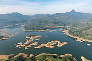 Sri Lanka. Adam's Peak and reservoir in the dry season.