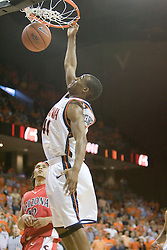 Virginia's Sean Singletary (44) delivers a dunk against Arizona.  UVA defeated the #10 ranked Wildcats 93-90 in the first game at the new John Paul Jones Arena, in Charlottesville, VA on November 12, 2006...