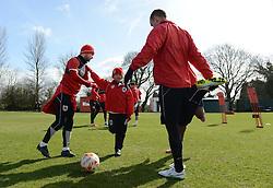 Connor trains with the team - Photo mandatory by-line: Dougie Allward/JMP - Mobile: 07966 386802 - 01/04/2015 - SPORT - Football - Bristol - Bristol City Training Ground - HR Owen and SAM FM