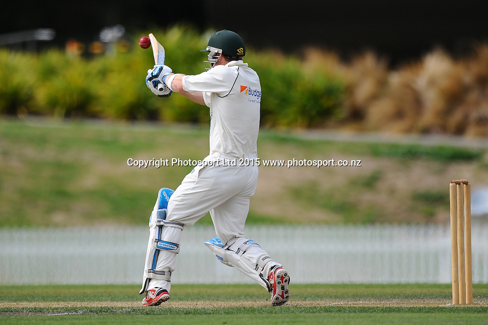Central player Greg Hay during their Plunket Shield match Central Stags v Canterbury at Saxton Oval, Nelson, New Zealand. Friday 20 March 2015. Copyright Photo: Chris Symes / www.photosport.co.nz