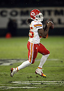Kansas City Chiefs running back Jamaal Charles (25) catches a second quarter pass during the NFL week 12 regular season football game against the Oakland Raiders on Thursday, Nov. 20, 2014 in Oakland, Calif. The Raiders won their first game of the season 24-20. ©Paul Anthony Spinelli