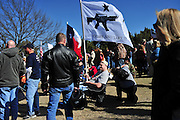 ACTION during the 'Day of resistance' anti-Obama protest event at Flag Pole Hill on Saturday, February 23, 2013 in Dallas, Texas. (Cooper Neill/The Dallas Morning News)
