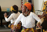 Middletown, New York - Maxwell Kofi Donkor and the Sankofa Drum and Dance Ensemble perform at Thrall Library on Feb. 26, 2012.