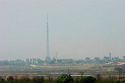 Panmunjom. The flag tower of the North Korean propaganda village.