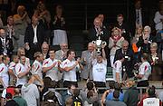 Twickenham, GREAT BRITAIN, Newcastle Falcon celebrate after winning  the Middlesex Sevens Tournament at Twickenham Stadium, on Sat.18.08.2007 [Mandatory Credit. Peter Spurrier/Intersport Images].....