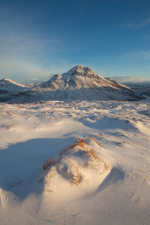 Cul Beag in winter, Coigach, Wester Ross, North-west Scotland, December