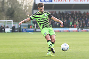 Forest Green Rovers Liam Shephard(2) during the EFL Sky Bet League 2 match between Forest Green Rovers and Plymouth Argyle at the New Lawn, Forest Green, United Kingdom on 16 November 2019.