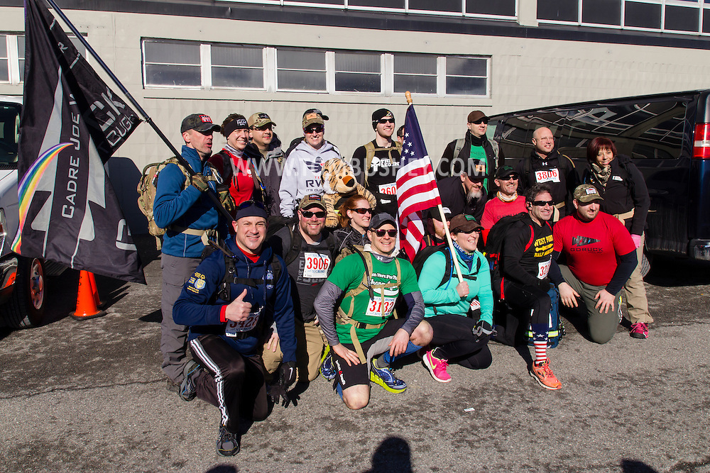 West Point, New York - Runners compete in the West Point Half-Marathon Fallen Comrades Run at the United States Military Academy on March 29, 2015.