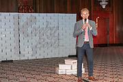 2019, April 01. Hotel Sofitel Legend the Grand, Amsterdam, the Netherlands. Hans Cornelissen at the press presentation of Kinky Boots.