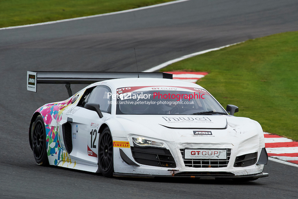 #12 Nigel HUDSON Audi R8 GT3 LMS during GT Cup - Race 1 as part of the MSVR Oulton Park 10th October 2015 at Oulton Park, Little Budworth, Cheshire, United Kingdom. October 10 2015. World Copyright Taylor/PSP. Copy of publication required for printed pictures.  Every used picture is fee-liable. http://archive.petertaylor-photographic.co.uk