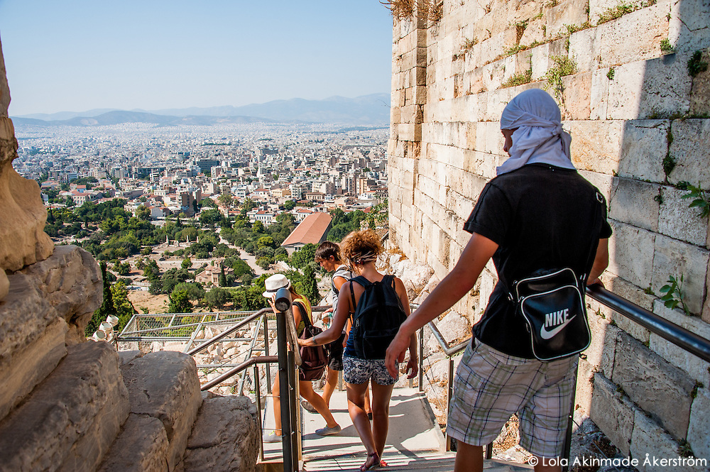 Athens, Greece - Historic icons, ruins, and buildings - Faces and people
