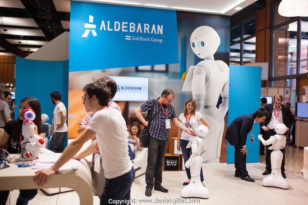 Salon international Innorobo, dedie a la robotic et l'innovation, Lyon, juillet 2015